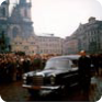 The hearse on Old Town Square, 25 January 1969 (Source: ABS)
