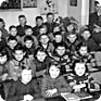 School photograph of Jan Palach´s class in the Všetaty elementary school. He is in the middle of the third row (Source: Jan Palach´s archives)